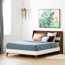 Yodi - Complete Bed, Natural Walnut and White, Full