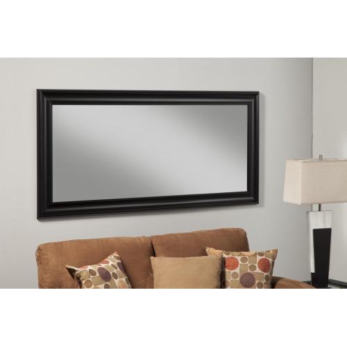 Black Full Length Leaner Mirror - Black