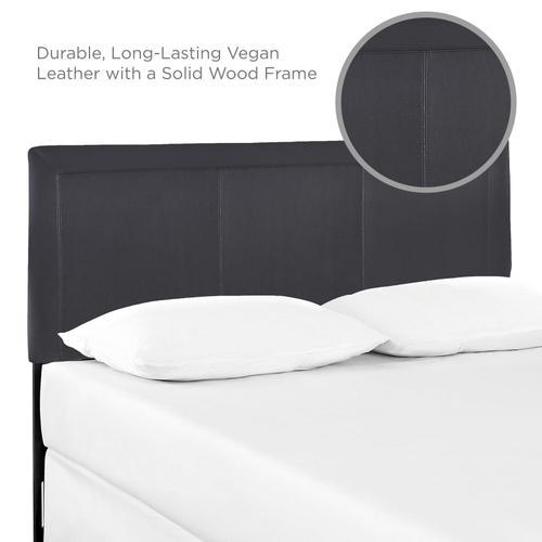 Modway - Isabella Queen Upholstered Vinyl Headboard in Black