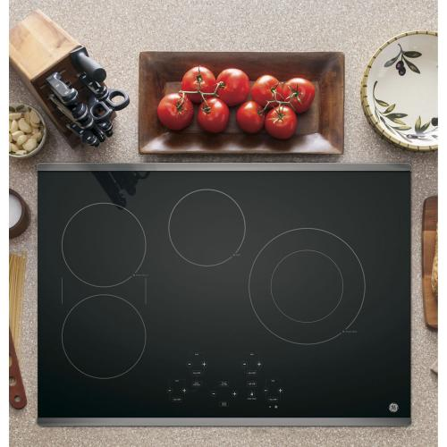 "GE 30"" Electric Smoothtop Cooktop Stainless Steel JP5030SJSS"