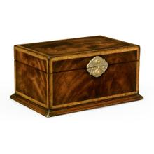 Rectangular Crotch Mahogany Jewellery Box