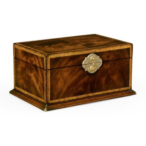 Rectangular Crotch Mahogany Jewellery Box