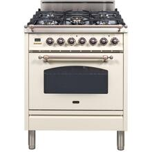 Nostalgie 30 Inch Gas Liquid Propane Freestanding Range in Antique White with Bronze Trim