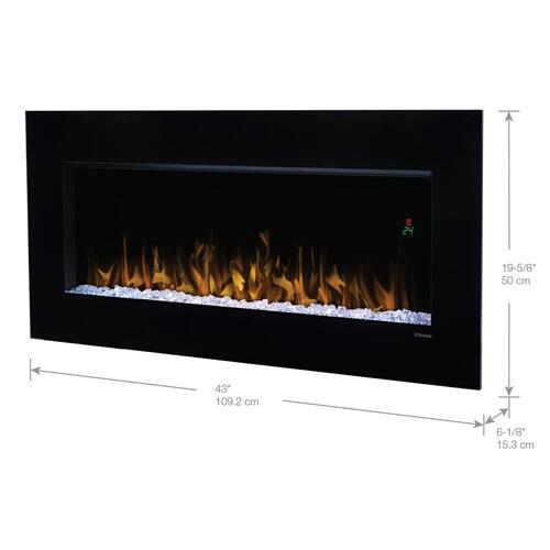 """Dimplex - Dimplex Nicole 43"""" Electric Fireplace Wall-Mounted With Acrylic Ember Bed"""