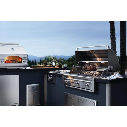 "36"" Lynx Professional Built In Grill with 3 Ceramic Burners and Rotisserie, NG"