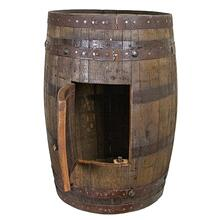 Whiskey Barrel Sink Cabinet