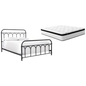 Queen Metal Bed With Mattress