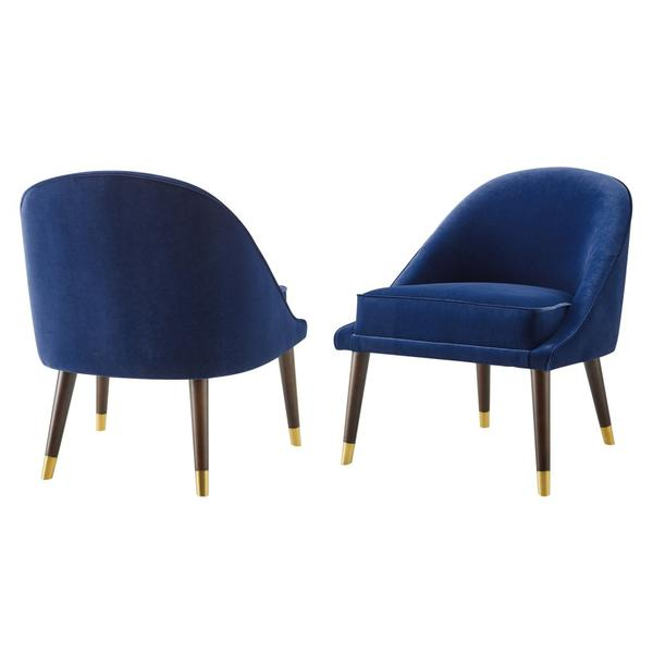 Avalon Velvet Accent Chair - Navy