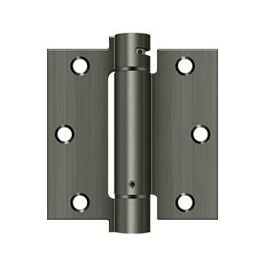 "3-1/2"" x 3-1/2"" Spring Hinge - Antique Nickel"