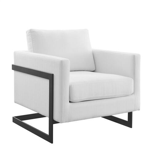 Posse Upholstered Fabric Accent Chair in Black White
