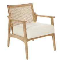 See Details - Alaina Arm Chair In Linen Fabric With Coastal Wash Finish.
