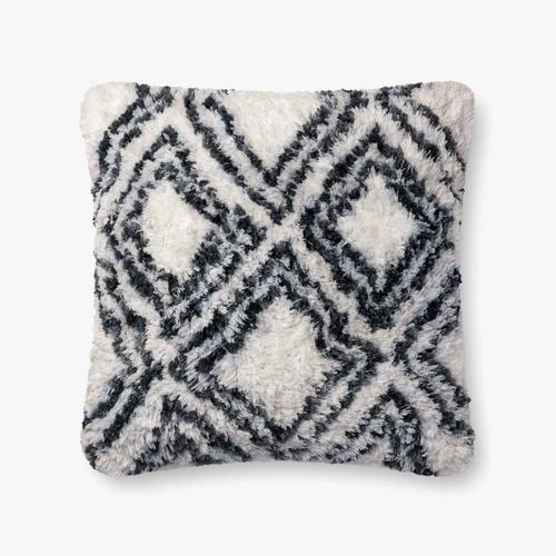 P0711 Charcoal / White Pillow