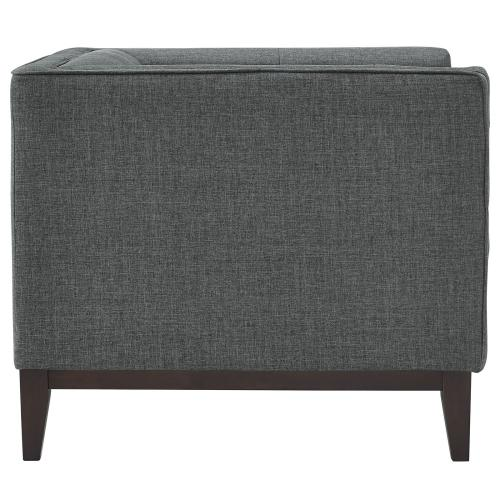 Modway - Serve Upholstered Fabric Armchair in Gray