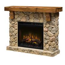 See Details - Fieldstone Mantel Electric Fireplace