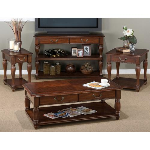 Jofran - Sofa Table W/2 Drawers 7 2 Shelves - Fluted Legs