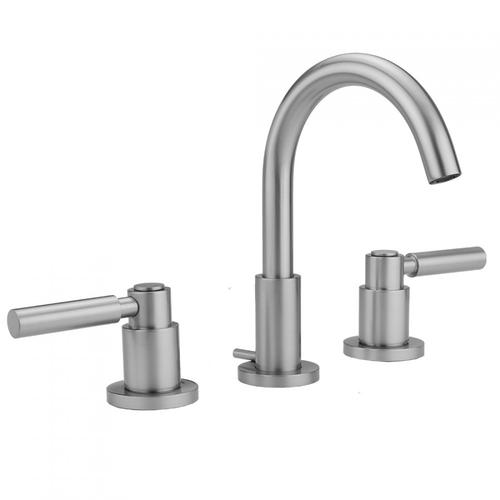 Satin Chrome - Uptown Contempo Faucet with Round Escutcheons & High Lever Handles