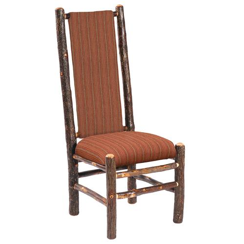 High-back Side Chair - Natural Hickory - Standard Leather