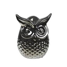 Silver Ceramic Owl
