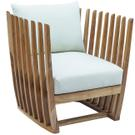 Throne Teak Lounge Chair w/off-white cushion Product Image