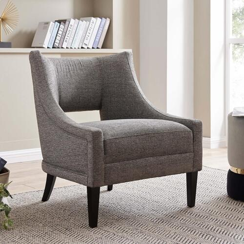 Eugene KD Fabric Accent Chair, Century Gray