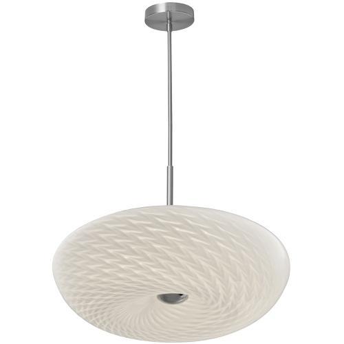 "LED Pendant, 18"" Mackerel Glass"