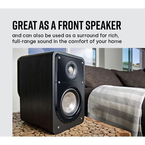 Signature Series American HiFi Home Theater Compact Bookshelf Speaker in Washed Black Walnut