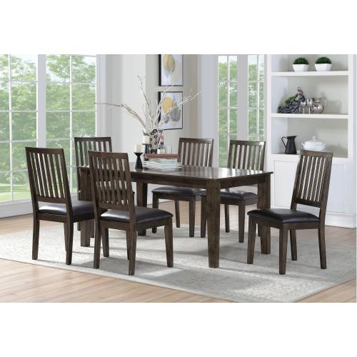 Emerald Home D453-7pcset Ash Grove Dining Set, Dark Cherry