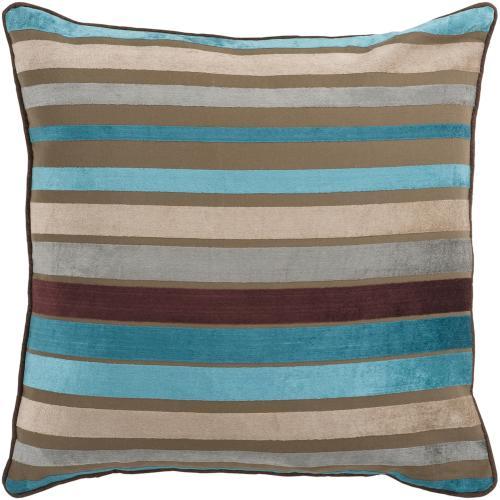 """Velvet Stripe JS-024 22"""" x 22"""" Pillow Shell with Down Insert"""