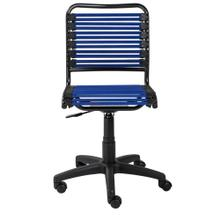 See Details - Allison Bungie Flat Low Back Office Chair In Blue With Graphite Black Frame and Black Base