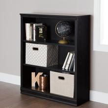 3-Shelf Bookcase - Black Oak
