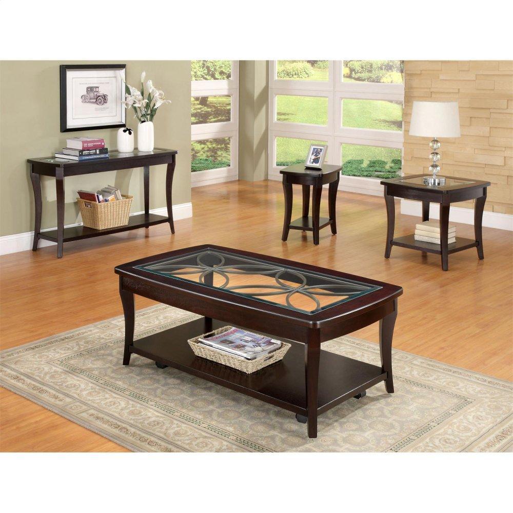 See Details - Annandale - Rectangular Coffee Table - Dark Mahogany Finish