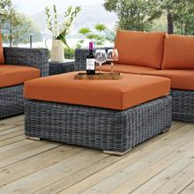 Summon Outdoor Patio Sunbrella® Square Ottoman in Canvas Tuscan