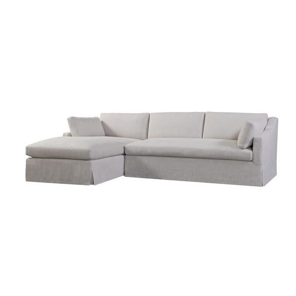See Details - Dune Slipcovered LAF Chaise in Floris Linen