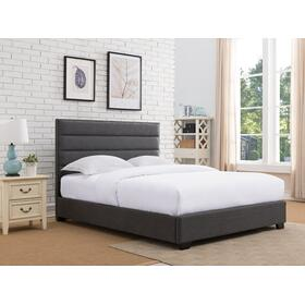 Delton Platform Bed - King, Ash Grey
