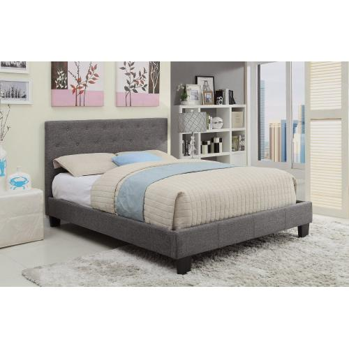 "Summit 60"" Queen Platform Bed in Grey"