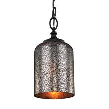 Hounslow Mercury Glass Mini Pendant Oil Rubbed Bronze
