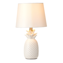 White Pineapple Table Lamp with Bulb. 60W Max. (167801) (2 pc. assortment)