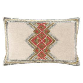 Belsa Pillow - Gold/silver/orange