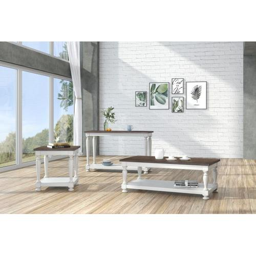 Grand Bay Coffee Table with Casters, White