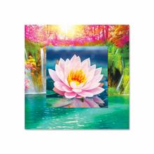 See Details - Lotus Flower With Background Miniature Fine Wall Art