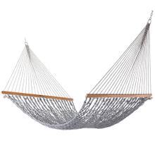View Product - Single Original DuraCord Rope Hammock - Navy Oatmeal Heirloom Tweed