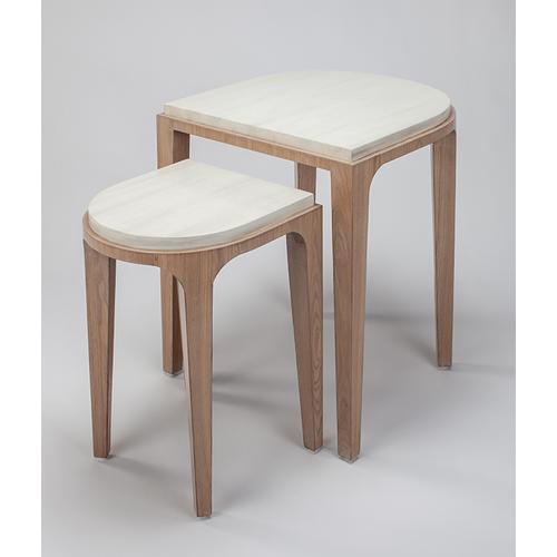 "Artmax - Nesting Table, Set of 2 22x22x26"" & 15x16x22"""