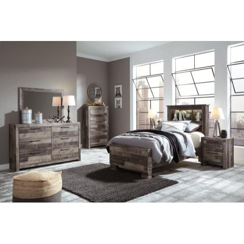 Derekson Twin Panel Bookcase Bed