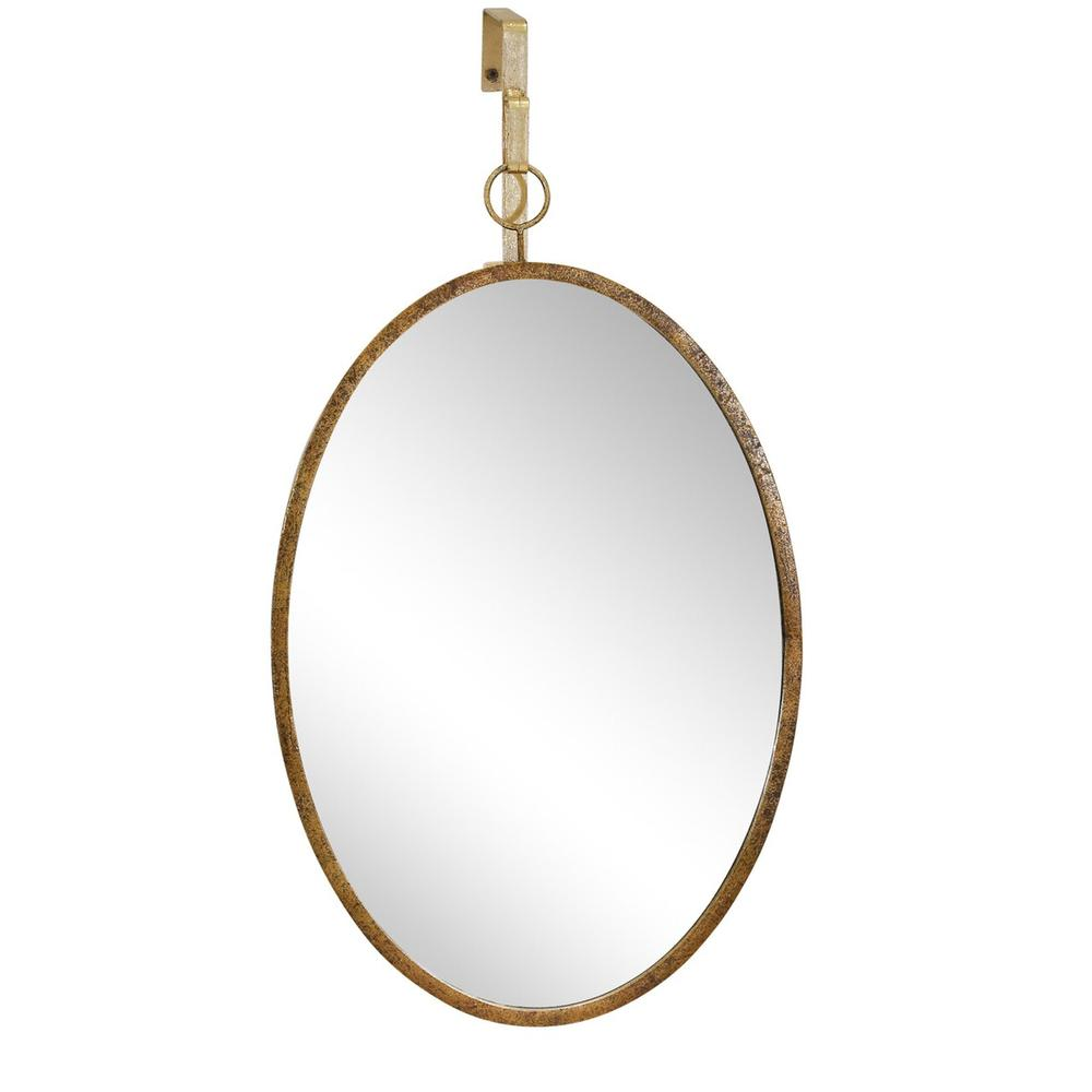 Gold Hanging Mirror, Oval