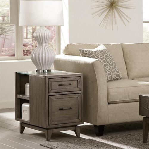 Vogue - Chairside Table - Gray Wash Finish