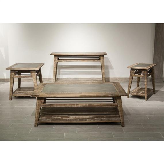 Riverside - Rowan - Side Table - Rough-hewn Gray Finish