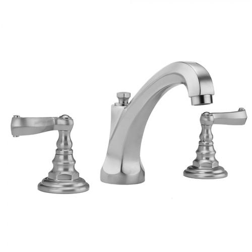 Jaclo - Caramel Bronze - Westfield High Profile Faucet with Ribbon Lever Handles & Fully Polished & Plated Pop-Up Drain