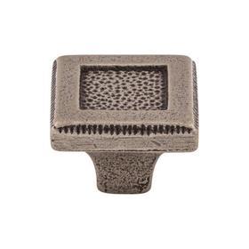 Square Inset Knob 1 5/16 Inch Cast Iron