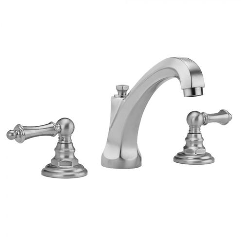 Jaclo - Polished Nickel - Westfield High Profile Faucet with Ball Lever Handles & Fully Polished & Plated Pop-Up Drain
