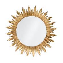 White gold large silver sunburst mirror